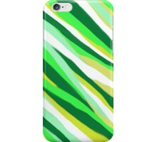 Green Stripey Tiger Abstract iPhone Case/Skin