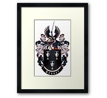 Krüger Coat of arms (white background) Framed Print