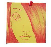 Post-it doodle Project ~ Original (03) Photographic Print