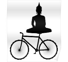 Buddha on a Bicycle Poster