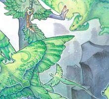 dancing wind dragons Sticker