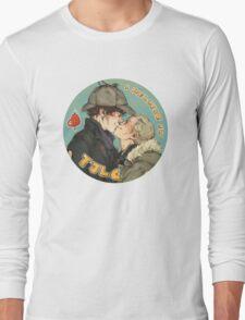 BBC Sherlock: I Believe in TJLC Long Sleeve T-Shirt