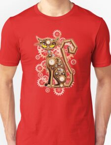 Steampunk Cat Vintage Copper Toy Unisex T-Shirt