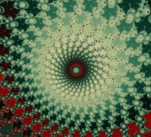 Hot Peppery Spicy Fractal - green and red  Sticker