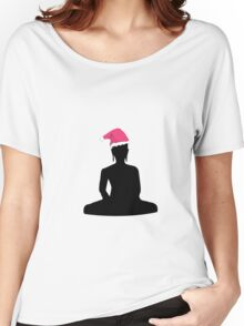 Buddha Christmas Santa Claus Women's Relaxed Fit T-Shirt