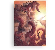 the lady and the dragon Canvas Print