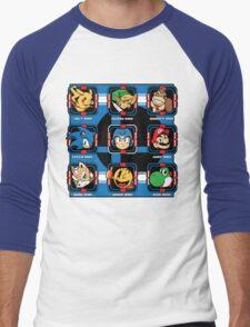 Mega-Smash Men's Baseball ¾ T-Shirt