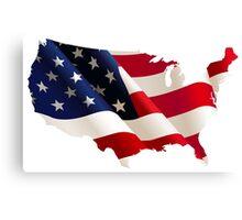 USA FLAG - MAP Canvas Print