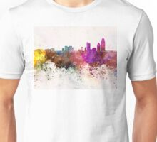 Mobile skyline in watercolor background Unisex T-Shirt