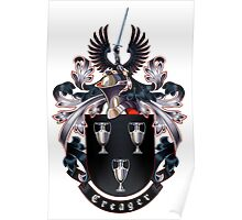 Creager Coat of arms (white background) Poster