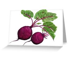 purple beetroot painting  Greeting Card