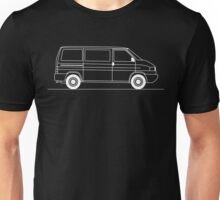T4 Transporter side view line art for dark colours Unisex T-Shirt