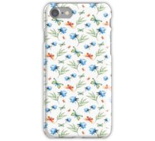 Watercolor summer pattern with floral theme iPhone Case/Skin