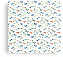 Watercolor summer pattern with floral theme Metal Print