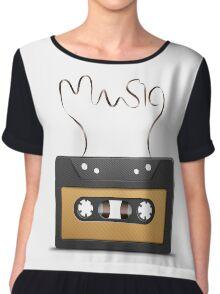 Audio tape retro music Chiffon Top