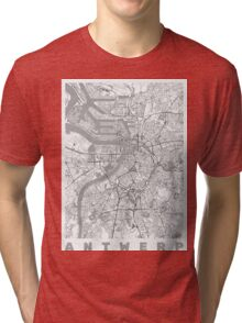 Antwerp Map Line Tri-blend T-Shirt