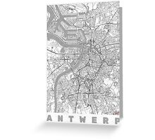 Antwerp Map Line Greeting Card