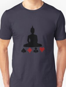 Buddha Playing Card Suits Unisex T-Shirt