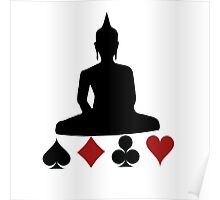 Buddha Playing Card Suits Poster
