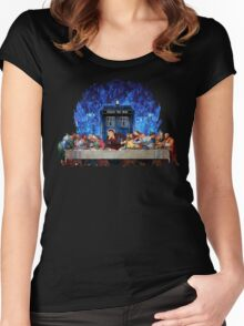 The Doctor Lost in the last Supper Women's Fitted Scoop T-Shirt