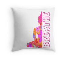Buddha Breathe Hippie Flower Child  Throw Pillow