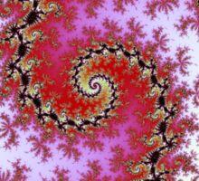 Double Red Spiral - Fractal Design Sticker