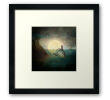 The Fish That Stole The Moon Framed Print