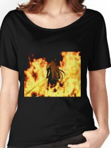 Final Fantasy VII Sephiroth Flames Women's Relaxed Fit T-Shirt