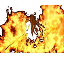 Final Fantasy VII Sephiroth Flames Photographic Print