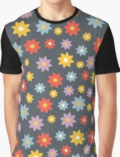 Retro flowers seamless pattern Graphic T-Shirt