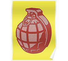 Pop Art Grenade  Poster