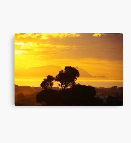 Last Sunset before Elections Canvas Print