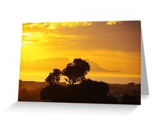 Last Sunset before Elections Greeting Card