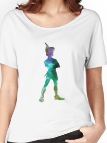 Peter Pan in watercolor Women's Relaxed Fit T-Shirt