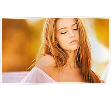 Beauty woman very stretched Poster