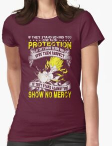 Super Saiyan Protection Womens Fitted T-Shirt
