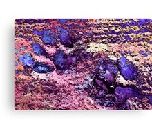 Paw Prints in Purple and Pink Canvas Print