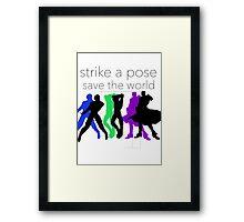 JJBA- Strike a Pose, Save the World! Framed Print