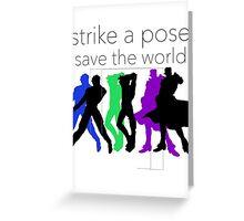 JJBA- Strike a Pose, Save the World! Greeting Card