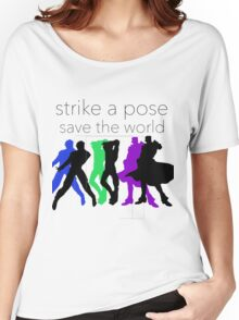 JJBA- Strike a Pose, Save the World! Women's Relaxed Fit T-Shirt