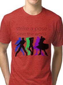 JJBA- Strike a Pose, Save the World! Tri-blend T-Shirt