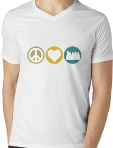 Peace Love Urban Planning Mens V-Neck T-Shirt
