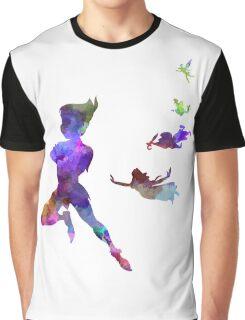 Peter Pan in watercolor Graphic T-Shirt