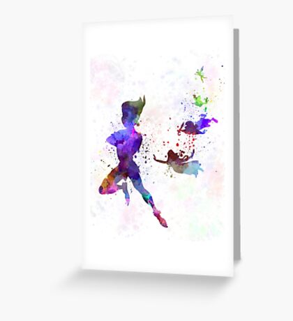 Peter Pan in watercolor Greeting Card