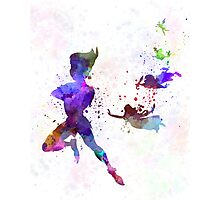 Peter Pan in watercolor Photographic Print