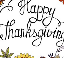 Happy thanksgiving colorful Sticker