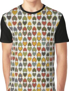 October Double Hearts on Grey Graphic T-Shirt