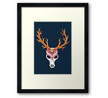 The Deer Head Skull   Framed Print