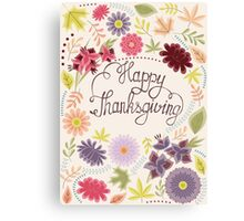 Happy thanksgiving vintage Canvas Print