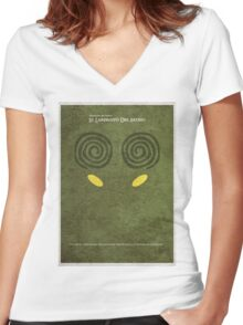 El laberinto del fauno - 2 (Pan's Labyrinth) Women's Fitted V-Neck T-Shirt